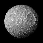 Фото спутника Мимас