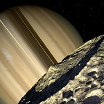 Фотография спутника Мимас