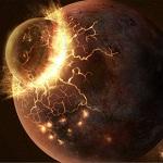Столкновение астероида и планеты