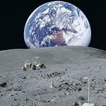 Планета Земля вид с Луны
