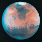 Фотография планеты Марс из космоса